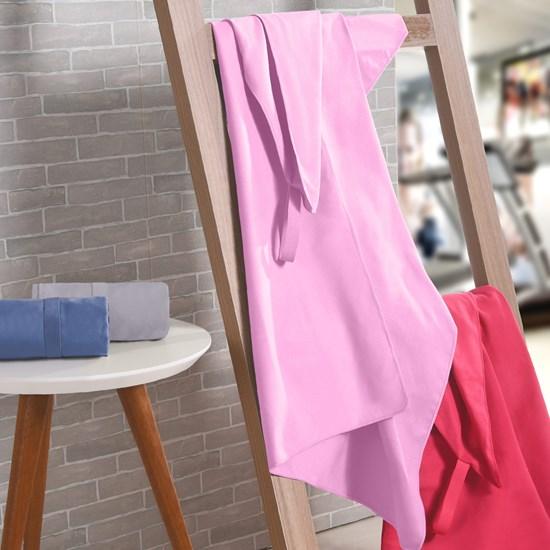 Toalha Esportiva Finess Alta Absorção Rosa - Bene Casa