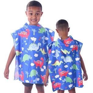 Toalha Poncho De Praia C/  Capuz Kids Dino - Bene Casa