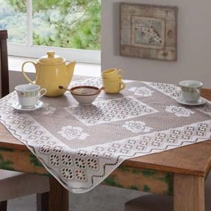Toalinha De Mesa 78Cm X 78Cm Tipo Chá Branco - Bene Casa