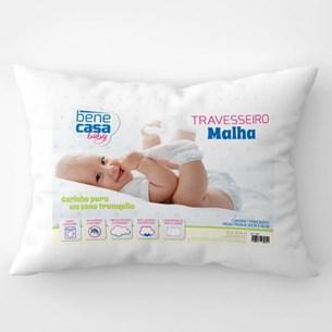 Travesseiro Bebê 40Cm X 30Cm Extra Conforto - Branco - Bene Casa