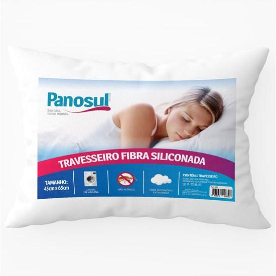Travesseiro Fibra Siliconada 50Cm X 70Cm Lavável Em Máquina Branco - Panosul