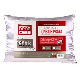 Travesseiro Íons De Prata 50Cm X 70Cm Protege Contra Virus Fungo E Bacterias Prata - Bene Casa