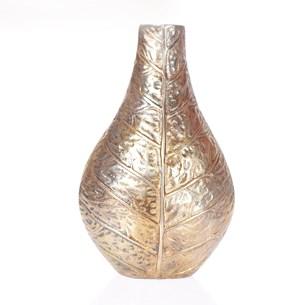 Vaso De Flor Folha     Dourado - Tessi